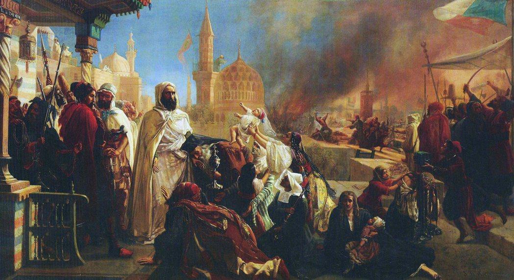 1860年黎巴嫩山-大馬士革騷亂裡,大馬士革基督徒區在遭遇屠城之後的重建故事。圖...