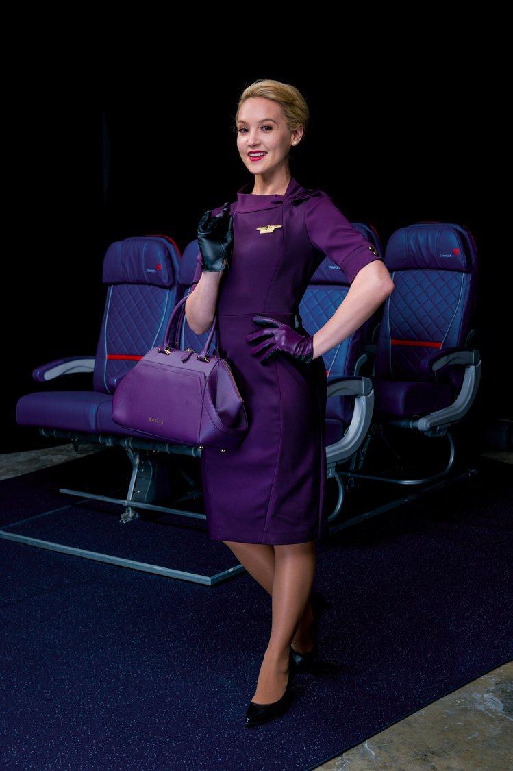 達美航空曝光由時裝設計師Zac Posen的新制服,獲得網友的一片好評。圖/達美...