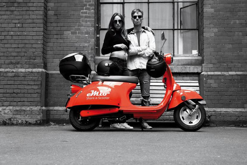 新創公司eMio,當年以「一個綠能環保的交通共享服務」打動創新比賽的評審們。 圖...