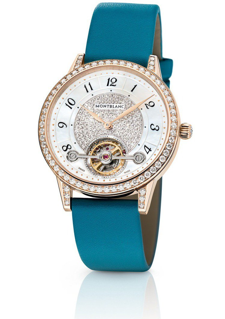 萬寶龍寶曦系列外置陀飛輪超薄珠寶腕表,150萬400元。圖/Montblanc提...