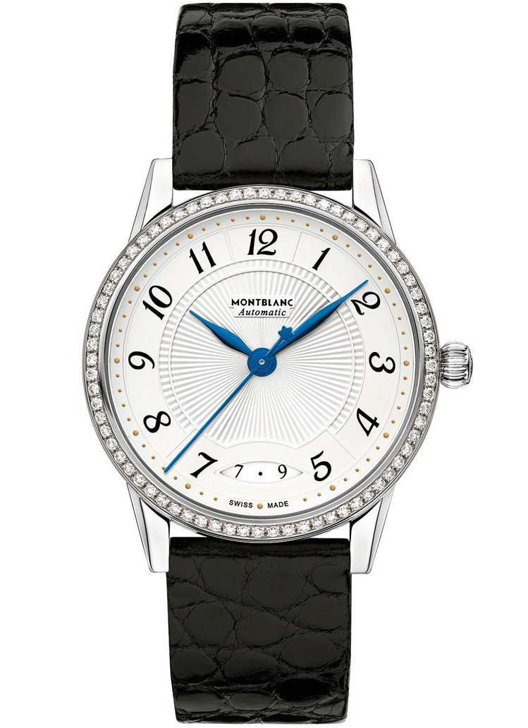 萬寶龍寶曦系列日期顯示自動腕表,14萬5,000元。圖/Montblanc提供