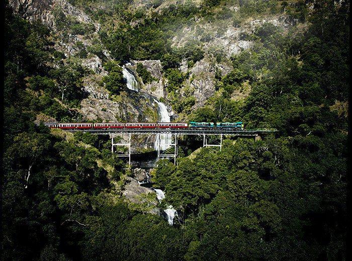 庫蘭達景觀火車有超過百年歷史。圖/澳洲昆士蘭州旅遊暨活動推廣局提供