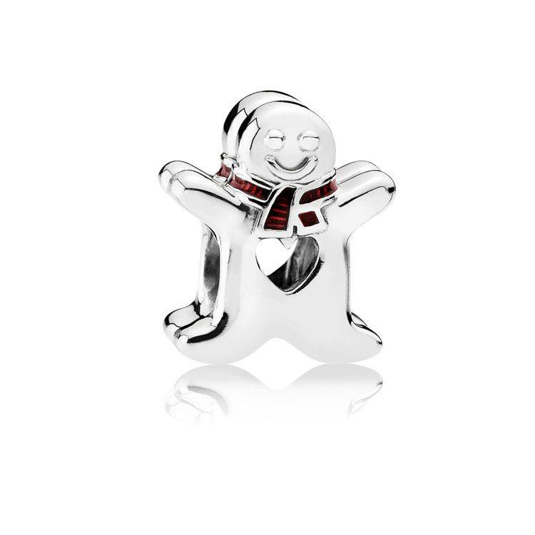 可愛薑餅人925銀串飾,1,780元。圖/PANDORA提供