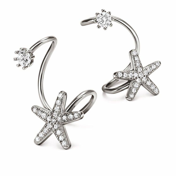 Fashionably Silver系列耳環,3,190元。圖/Folli Fo...