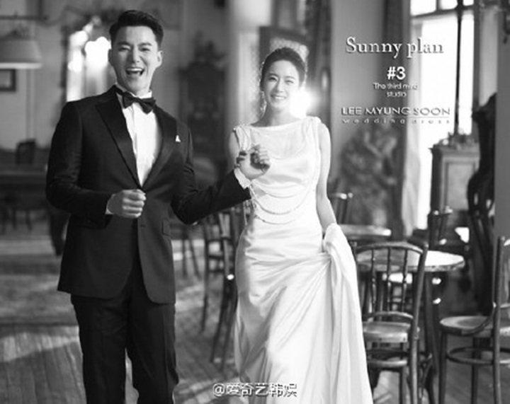 趙泰寬與女友的婚紗照於1日公開。圖/摘自微博
