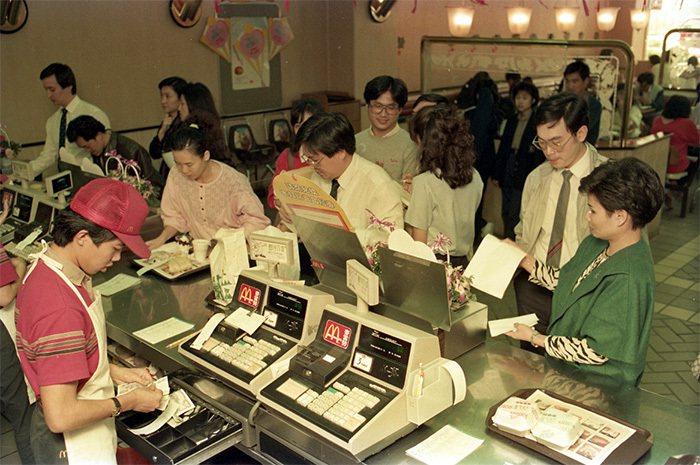 1984年的台灣麥當當。 圖片來源/聯合報系