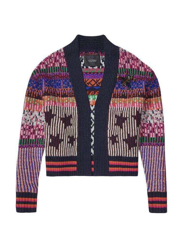 彩色條紋星星圖騰上衣,9,200元。圖/Scotch&Soda提供