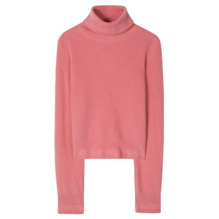粉色高領針織毛衣,25,800元。圖/Paul Smith提供