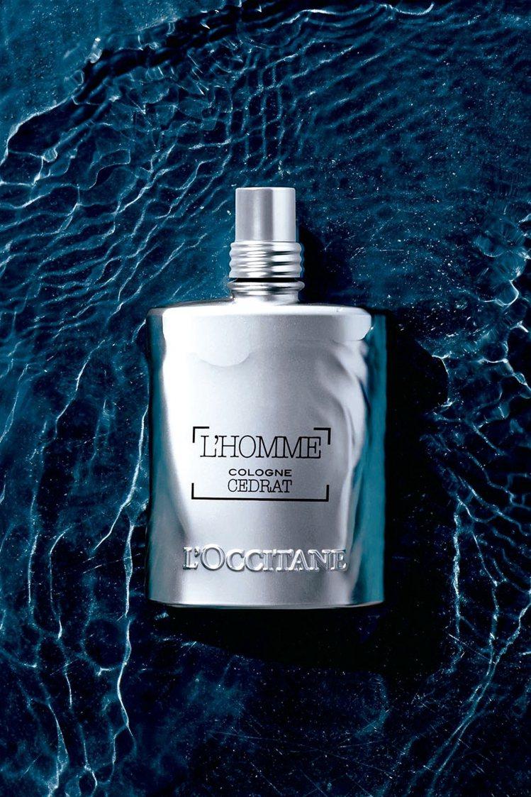 歐舒丹枸櫞海洋淡香水呈現活力、奔放精神,75ml/2,280元。 圖/各業者