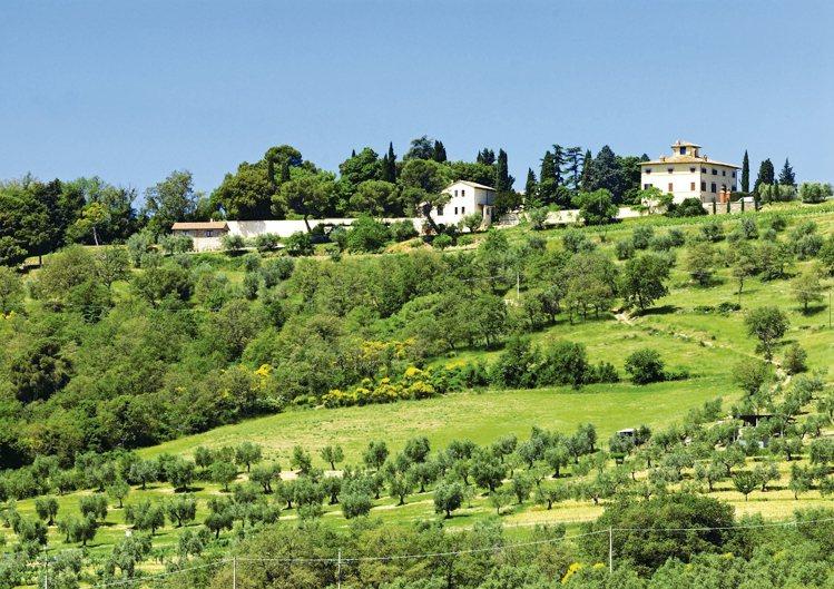 位於溫布利亞的嵐莊坐擁橄欖園林。 圖/雲朗集團提供