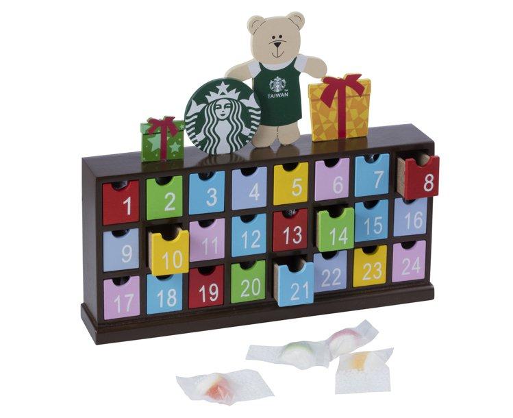 耶誕日曆軟糖。圖/統一星巴克提供