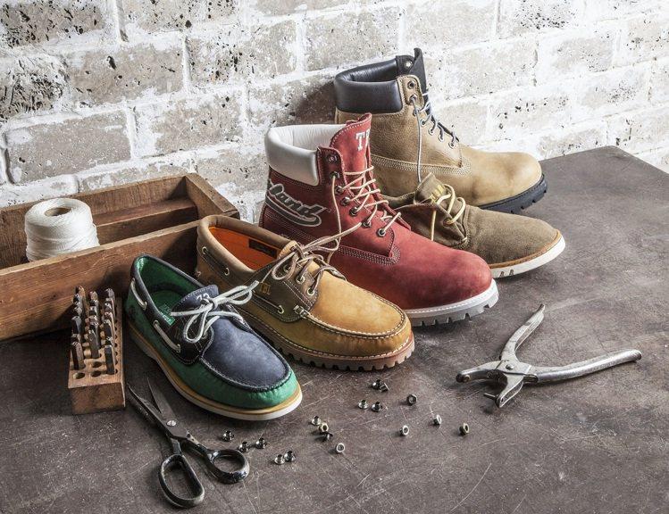 Timberland訂製鞋服務,上網就能設計自己喜愛的鞋款。圖/Timberla...