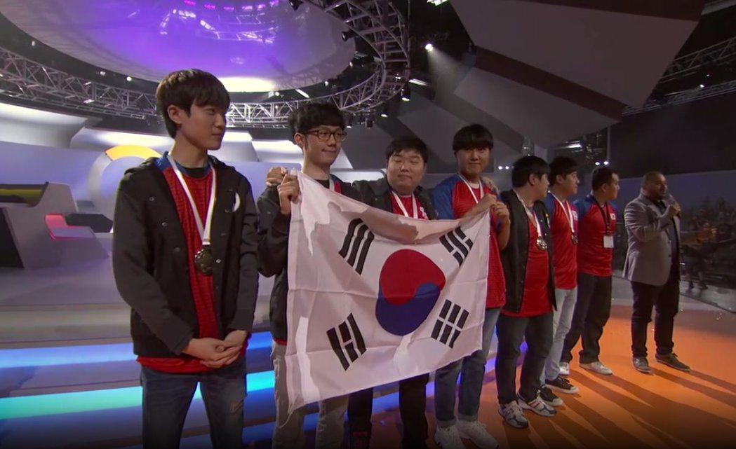 本次鬥陣世界盃冠軍:韓國隊。 圖/截自賽事直播