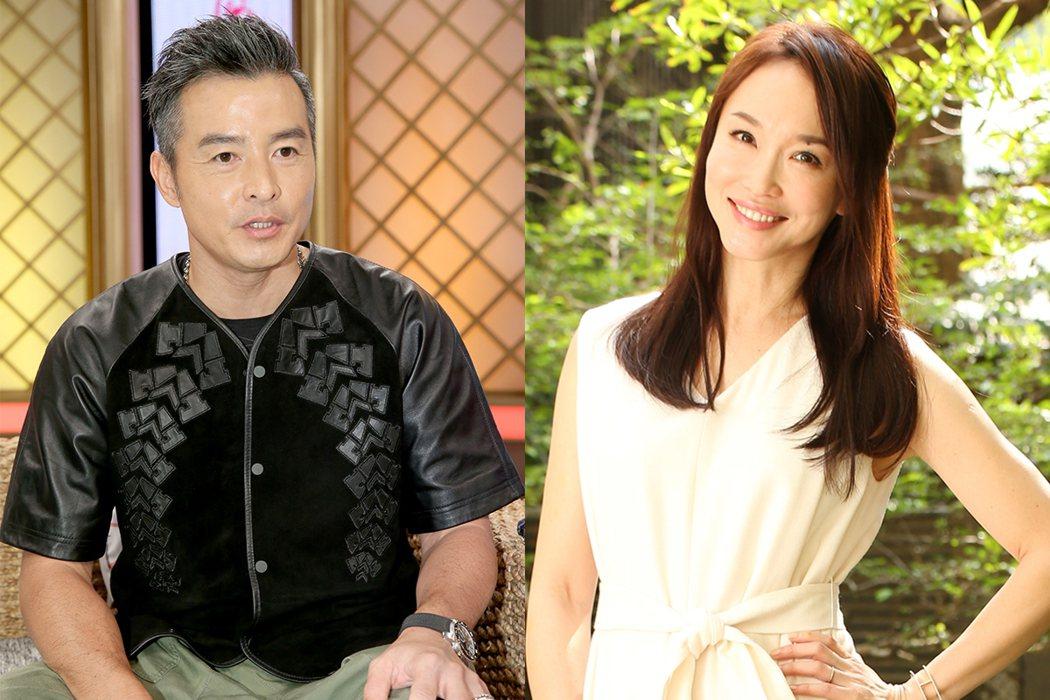 李銘順(左)與老婆范文芳(右)。 圖/報系資料照、記者陳立凱/攝影