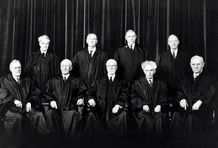 四位美國時任大法官(1937年)——蘇特蘭(Geroge Sutherland;...