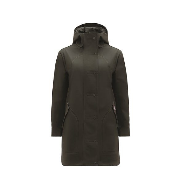 Womens original hunting coat防水獵裝外套,售價1萬2800元。HUNTER提供