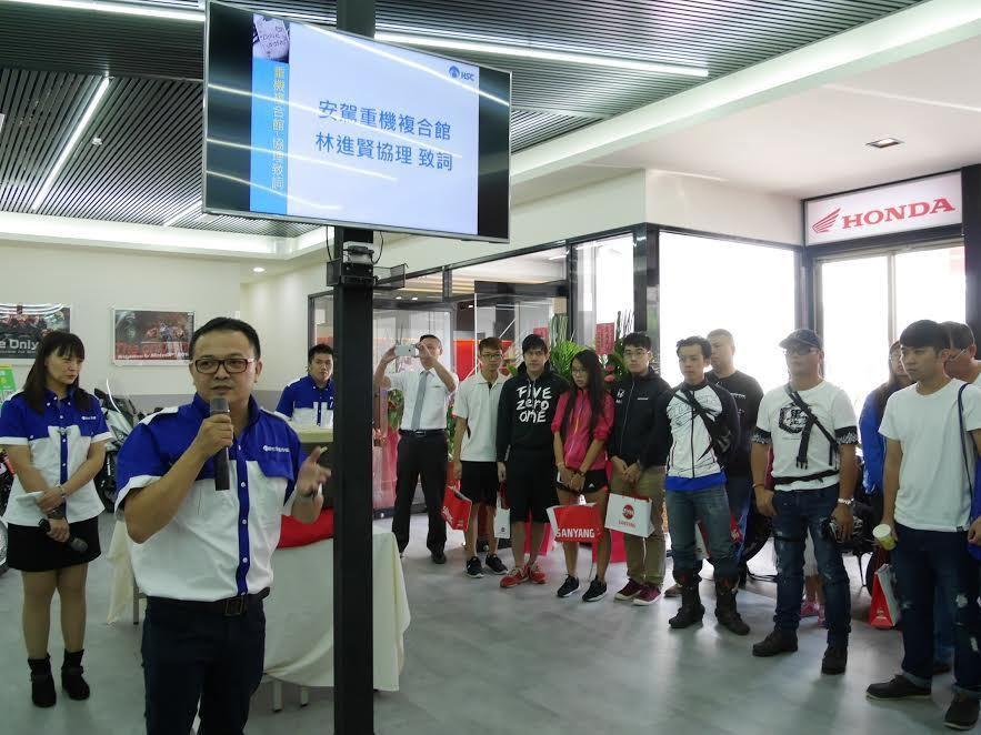 安駕中心林進賢協理致詞。 新竹安全駕駛教育中心提供