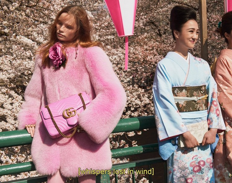 GG Marmont 鍊帶包秋冬形象廣告。圖/Gucci提供