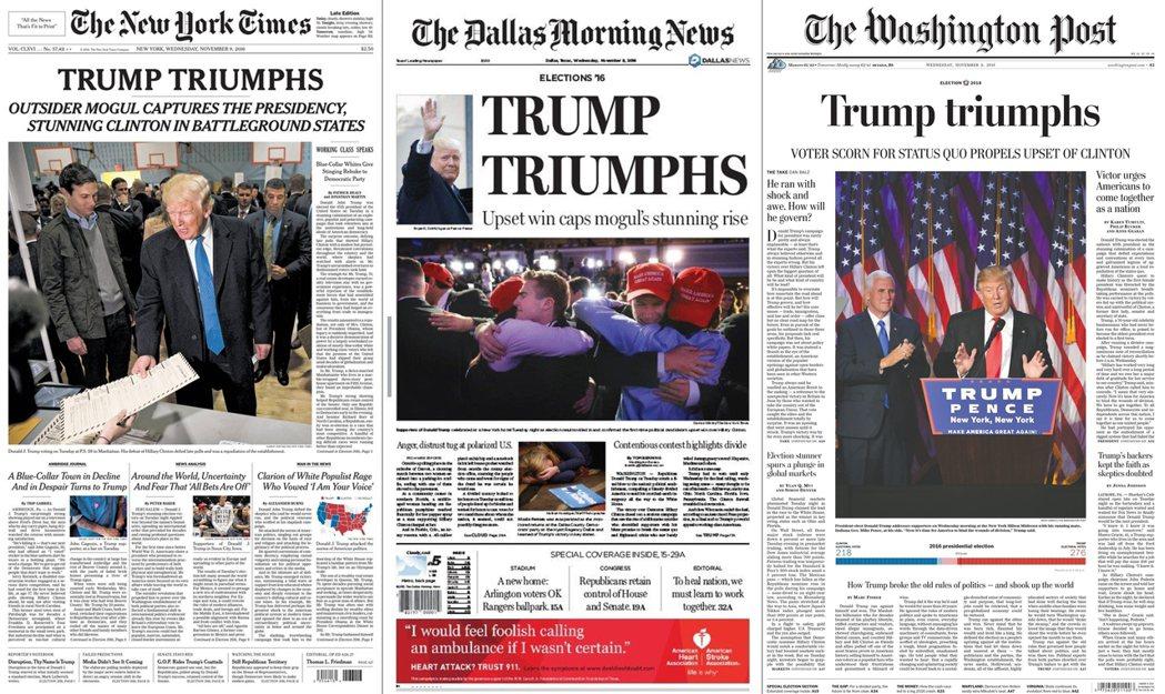 《紐約時報》、《華盛頓郵報》、《達拉斯晨報》