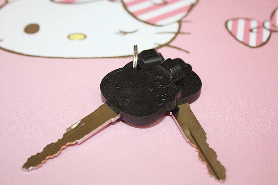 Hello Kitty頭像鑰匙。 記者林和謙/攝影