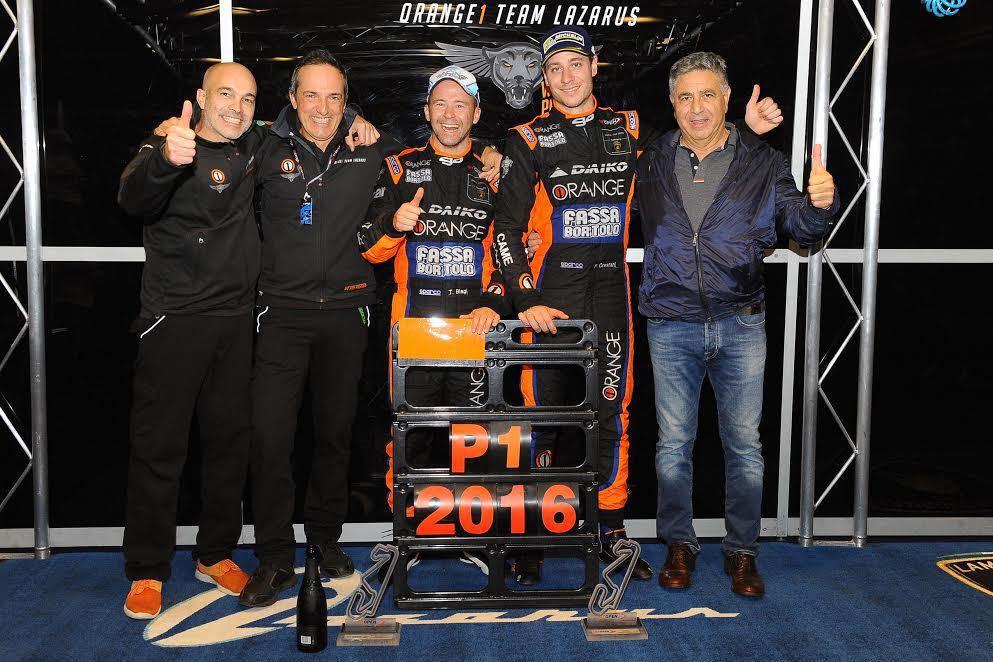 Orange 1 Team Lazarus-青年車手組合Thomas Biagi 與 Fabrizio Crestani。 Lamborghini提供