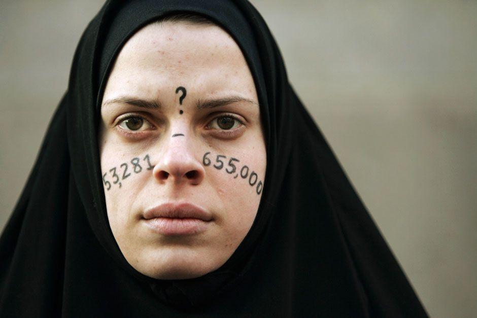 美國的反戰示威者艾莉西亞.卡西莉歐(Alicia Casilio),2007年1...