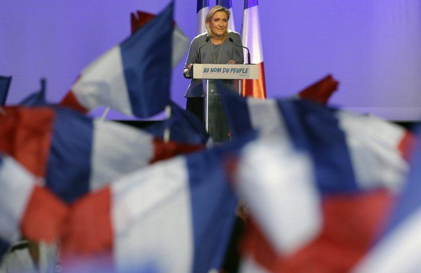 法國極右派「民族陣線」黨魁勒龐,野望明年法國總統大選。 圖/美聯社