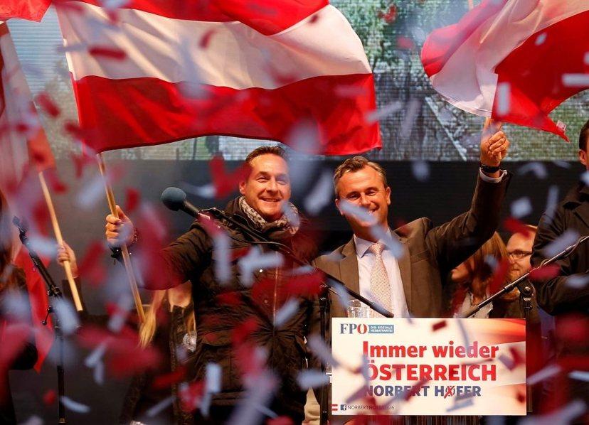 今年12月初的奧地利總統大選,或將出現二戰後歐洲第一位極右派出身的國家領導人;圖...