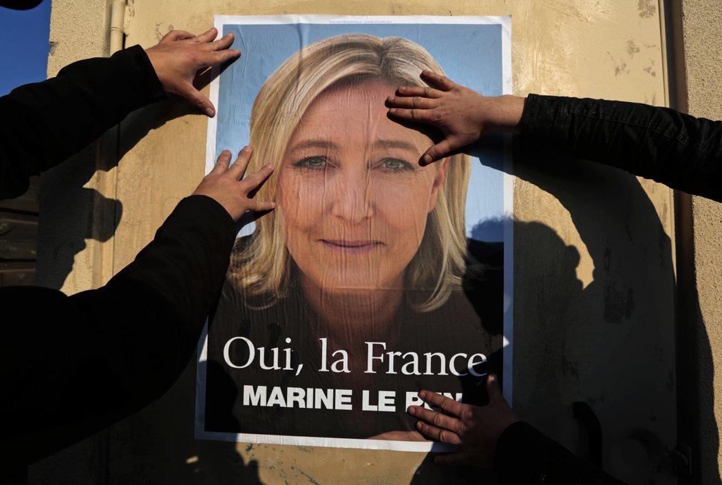 法國極保守勢力國民陣線的領導人馬琳.勒龐(圖),也是女性,她領導的政黨有比較「進...