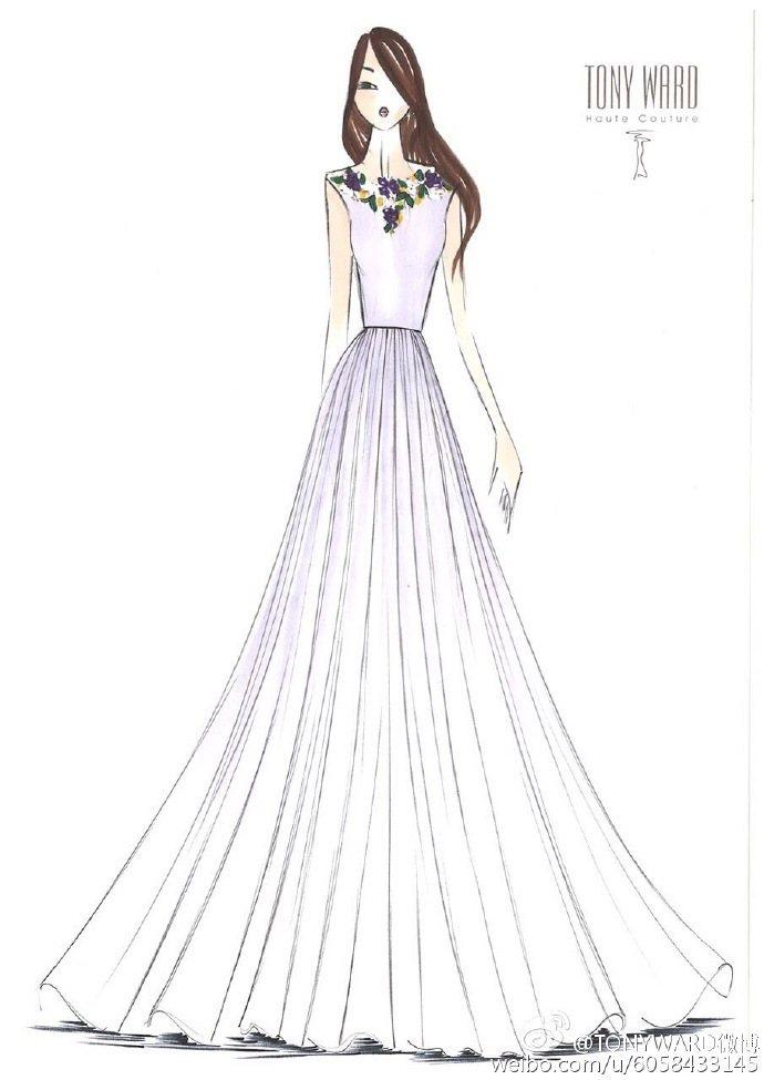 4件伴娘服裝的設計與剪裁皆有不同處。圖/摘自TONYWARD微博