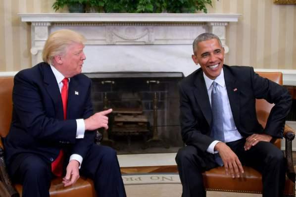 川普會晤歐巴馬 稱歐巴馬大好人