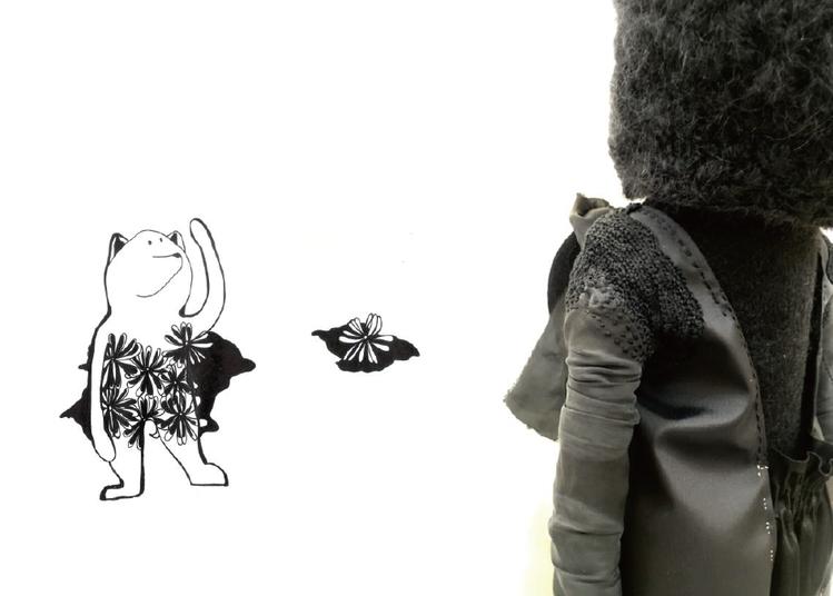 「HELLO : Goodbye」的主視覺作品中有詼諧對話的意境。圖/JAMEI...