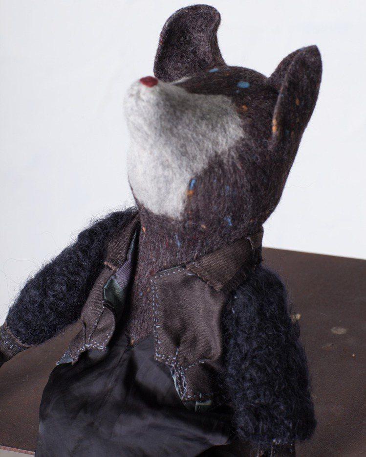 以羊毛原毛作品傳達情緒,相當有趣。圖/JAMEI CHEN提供