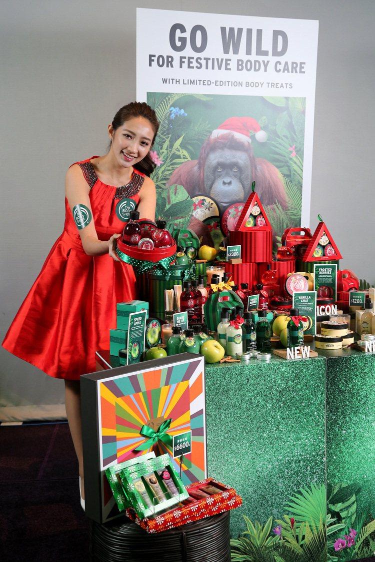 The Body Shop今年耶誕組合較往年多25%,內容除了有蔓越莓、青蘋果、...