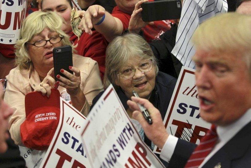 川普於路易斯安納州紐奧良的競選掃街。 圖/路透社