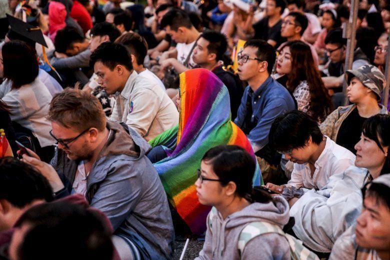 公義是我們在公共領域如何呈現「愛」的具象,台灣不需要一部如同種族隔離飲水機的《同性伴侶法》。 攝影/楊萬雲