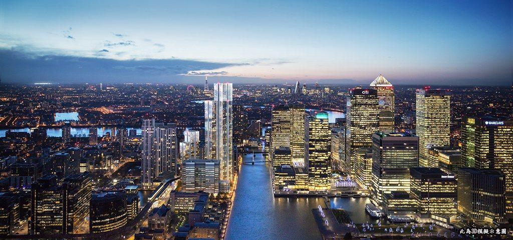 第一太平戴維斯獨家推出位於倫敦水岸名邸「South Quay Plaza 南灣廣...
