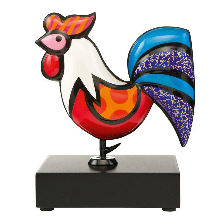 Goebel高寶瓷器以普普藝術詮釋公雞,別有一番樂趣。圖/集雅廊提供