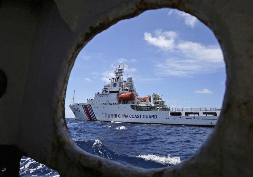 八月中國海警在仁愛暗沙(Second Thomas Shoal)附近巡視。 圖/...