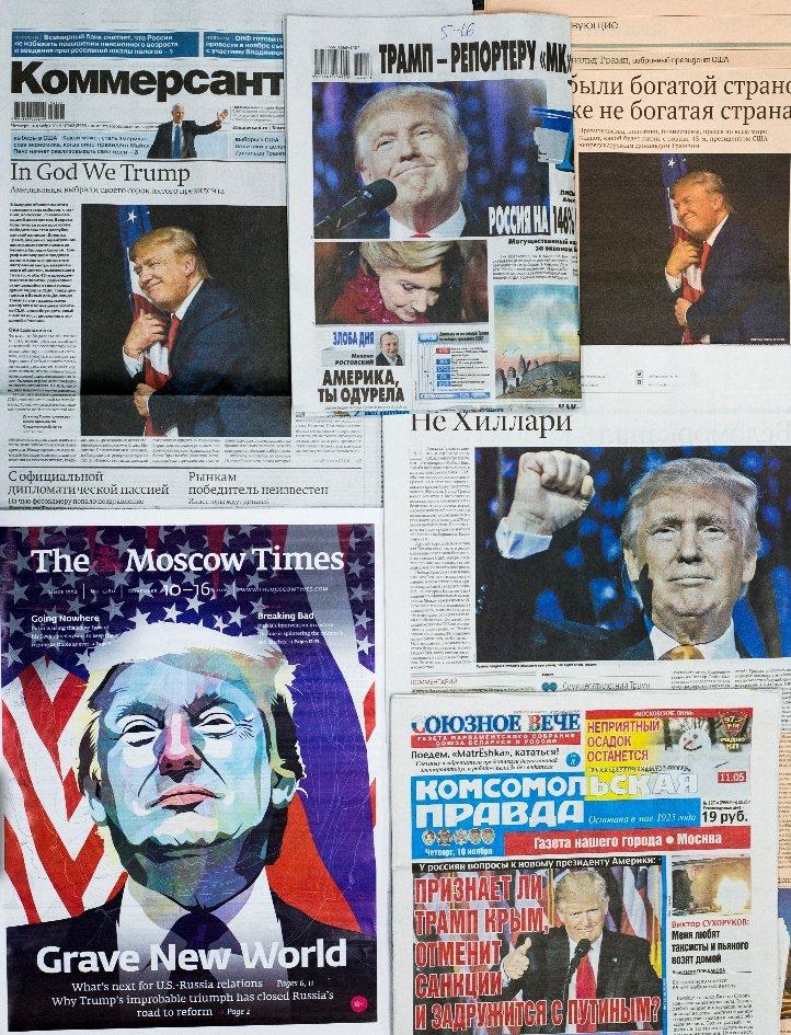 川普當選美國總統的消息,舉世震驚。 圖/美聯社