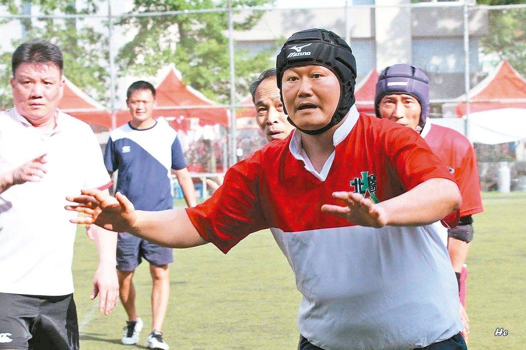 義大院長杜元坤酷愛打橄欖球。 圖/杜元坤院長提供