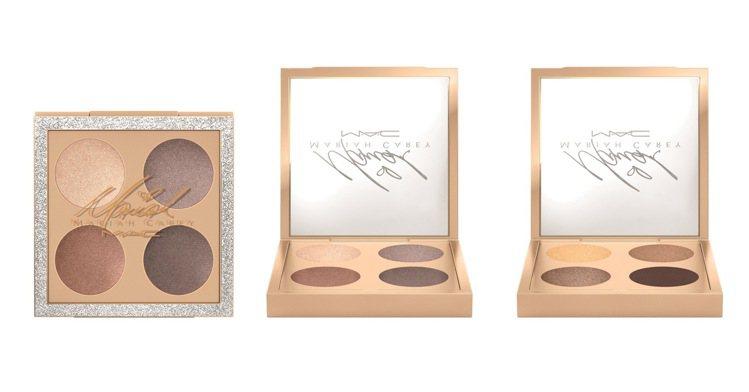 M.A.C X 瑪麗亞凱莉時尚4色眼彩盤,售價1,800元,共2款。圖/M.A....