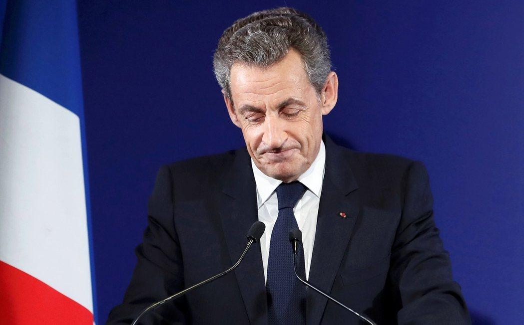 「祝法國好運。」承認敗選,法國前總統薩科奇復出失敗。 圖/路透社