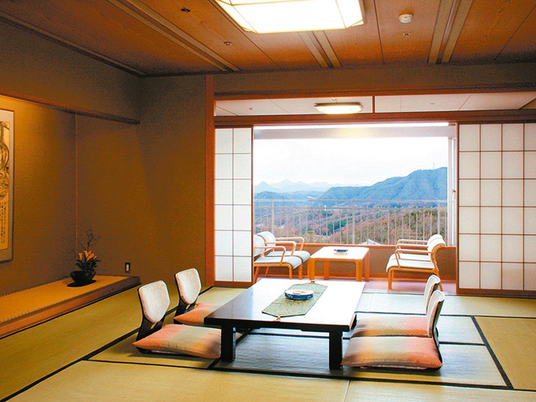 溫泉旅館客房。 圖/有行旅提供