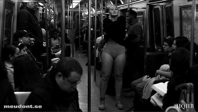 伊絲卡拉為引起眾人對女性身材的重視,在紐約地鐵發表演說。圖/擷自youtube