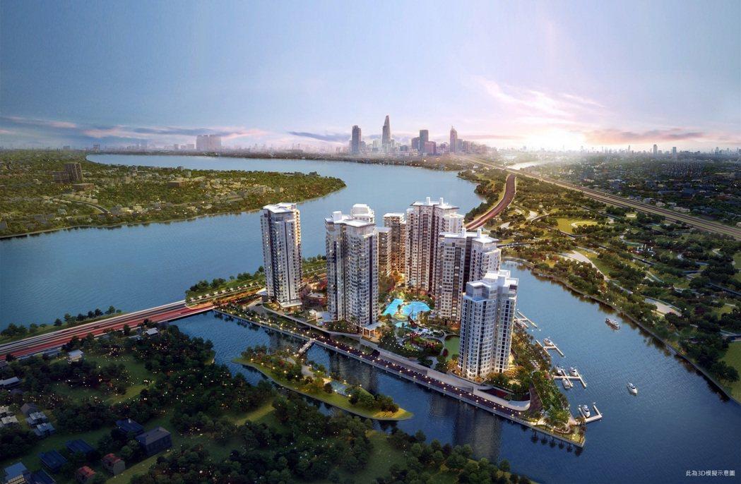 第一太平戴維斯隆重引進胡志明市西貢河上唯一的島嶼型建案「璀璨之島Diamond ...