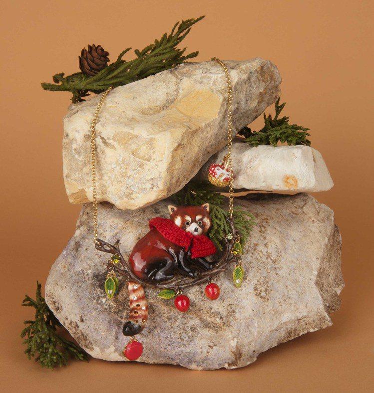 Les Nereides「浣熊小紅帽蕾歐妮」耶誕限定系列。圖/Les Nerei...