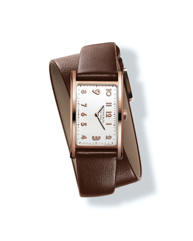 Tiffany East West白色表盤玫瑰金錶殼迷你款腕表,25萬8,000...