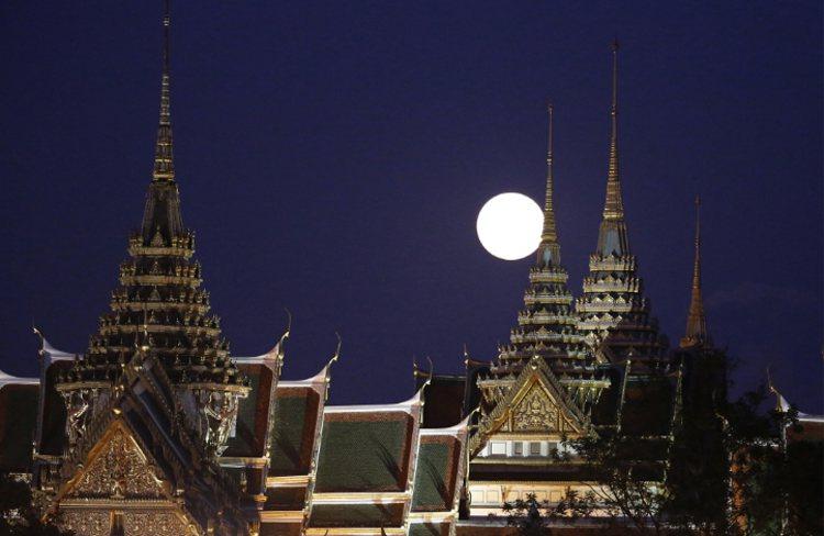 泰國夜景。 美聯社資料照