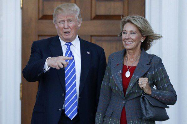 川普提名提倡學校選擇權人士任教育部長